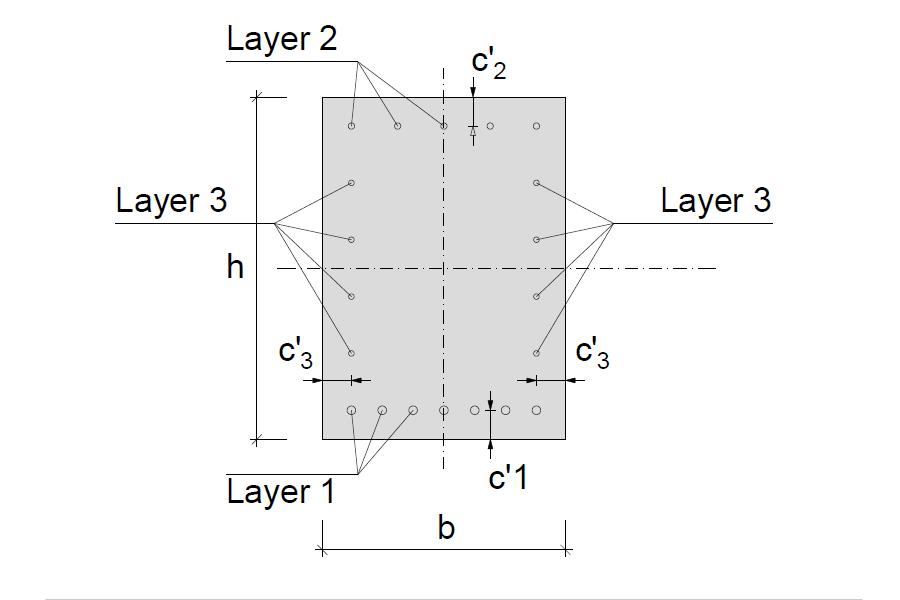 Rectangular concrete cross-section